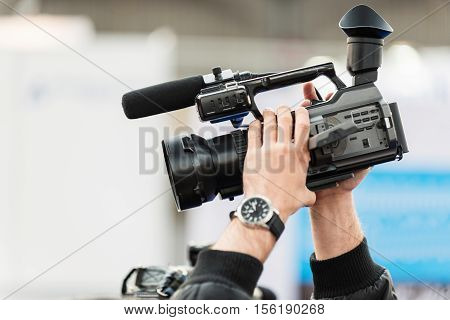 Recording with tv camera, toned image, horizontal