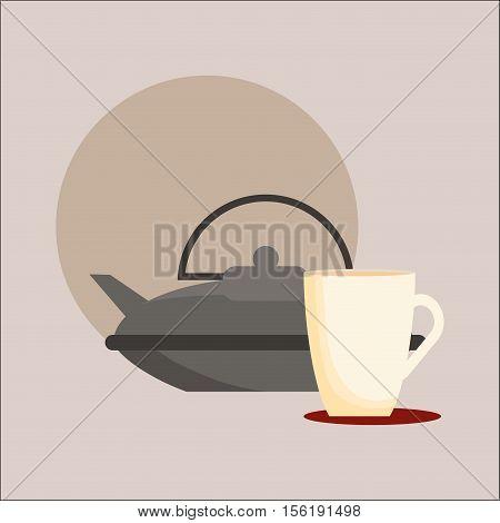 Delicious tea drink icon vector illustration graphic design