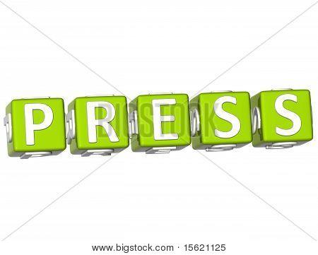 Press Cube Text