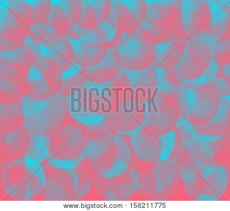 Pastel blue and pink balls blurred pink and blue background