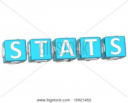 Stats Cube Text