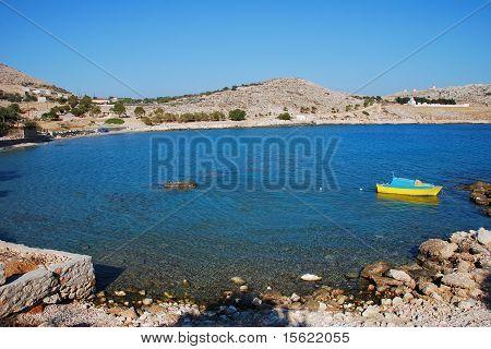 Pondamos beach, Halki island