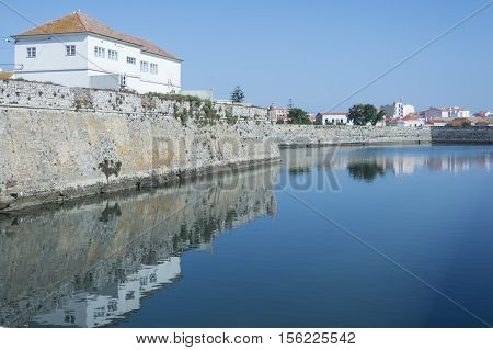 Town of Peniche particular of the river Portugal