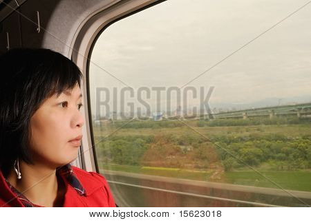 Woman In Train
