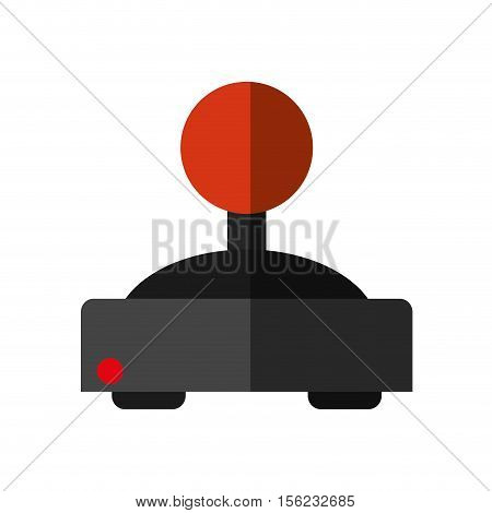 Videogame joystick icon. Game play leisure gaming and controller theme. Isolated design. Vector illustration
