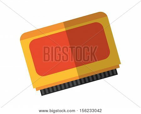 Videogame card icon. Game play leisure gaming and controller theme. Isolated design. Vector illustration