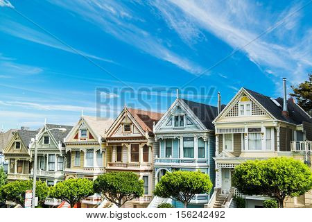 world famous painted ladies in San Francisco California