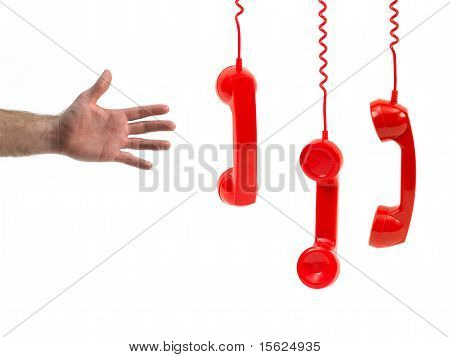 Red Phone Handset