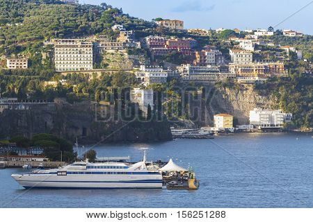 beautiful scenic of sorrento coastal mediterranean sea southern of italy