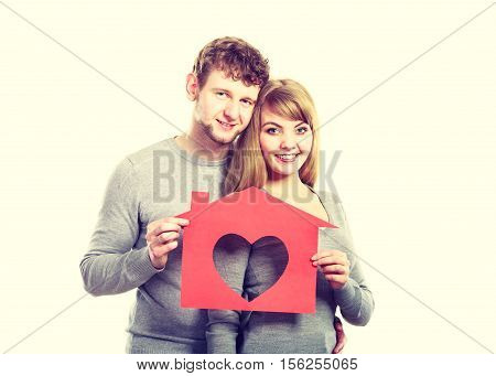 Enamoured Young Marriage With House.