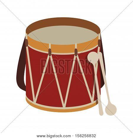 parade drum icon image vector illustration design