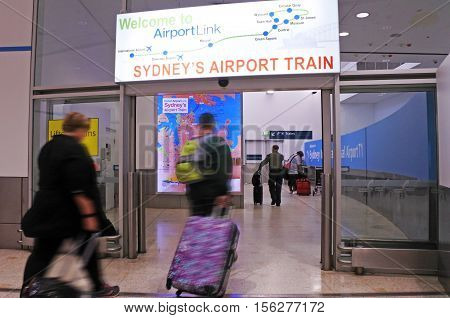 Passengers Travel By Sydney Airport Tr Sydney New South Wales Australia