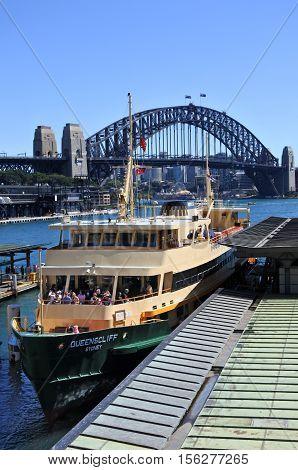 Sydney Ferries At Circular Quay Ferry Wharf In Sydney Australia