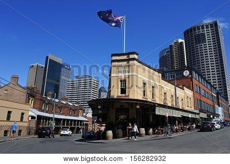Urban Landscape Of The Rocks In Sydney Australia