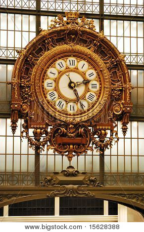The clock of Orsay Museum