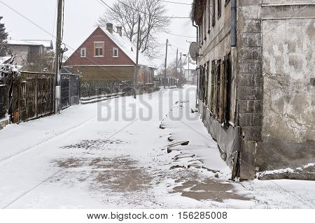 Snowfall In The City Streets