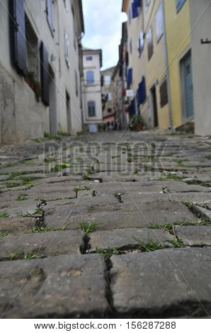 Old Paved Street In Ancient Town