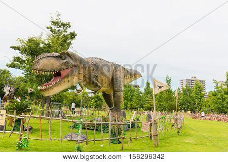 Dinosaur In The Park.
