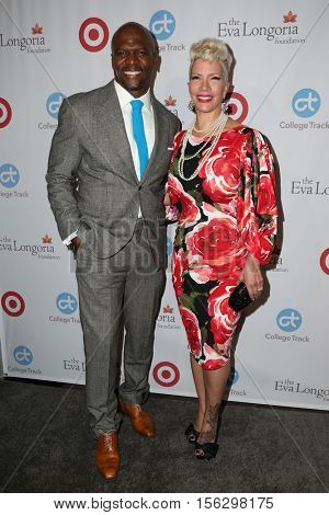 LOS ANGELES - NOV 10:  Terry Crews, Rebecca King-Crews at the 5th Annual Eva Longoria Foundation Dinner at Four Seasons Beverly Hills  on November 10, 2016 in Beverly Hills, CA