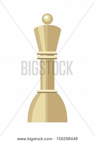 Pawn isolated on white. Business strategic management formation in the chess game. Concept in flat design style. Can be used for web banners, marketing and promotional materials, presentations. Vector