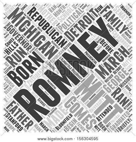 Mitt Romney Republican word cloud concept text
