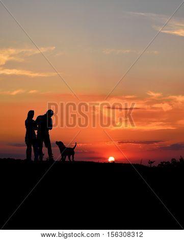 man's best friend plus a lovely sunset