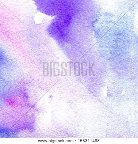 watercolor texture transparent pink blue and purple colors. watercolor abstract background spot blur fill