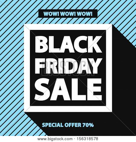 Black friday sale banner for your promotion special offer advertisement sale hot price and discount poster on blue background with sign black friday sale. Stock vector