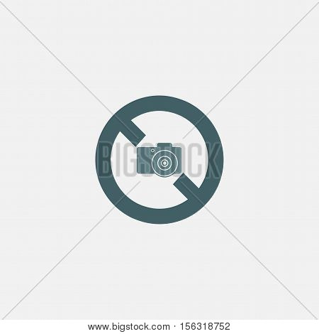 no photography icon vector isolated on white background