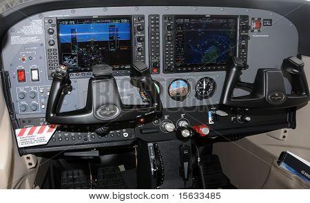 Modern Aircraft Cockpit