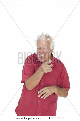 Senior Man Sneering.