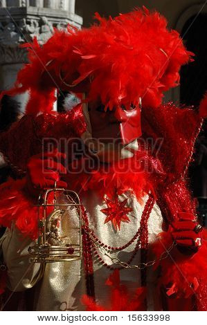 Casanova Mask At St. Mark's Square During The Carnival Of Venice,2011
