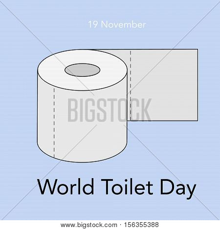 World toilet day. 19 November. Vector illustration of world toilet day