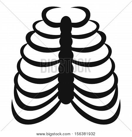 Rib cage icon. Simple illustration of rib cage vector icon for web