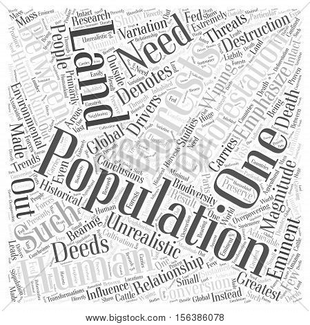 The Relationship Between Human Population And Deforestation word cloud concept