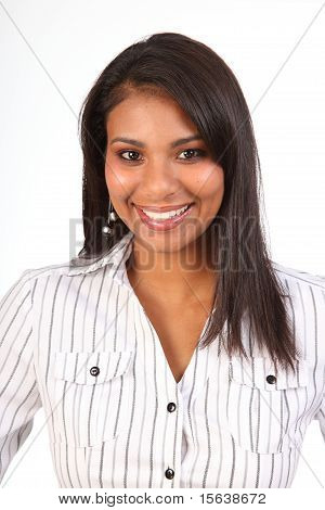 Beautiful black smiling woman
