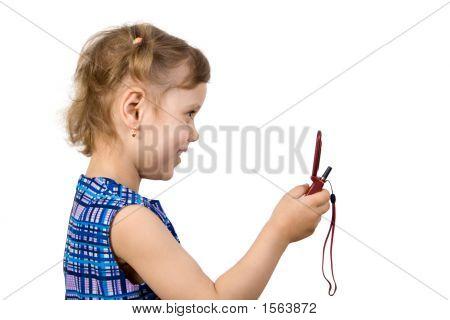 Fun Little Girl Read Sms