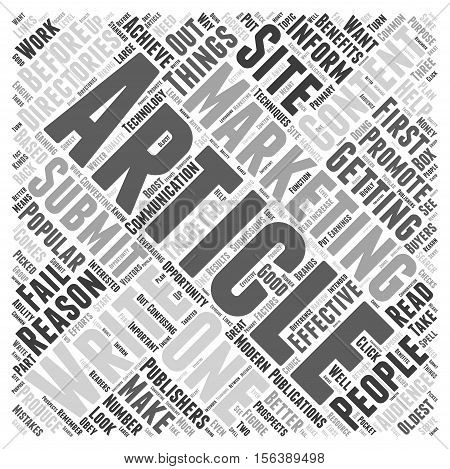 Things You Must Do Before You Submit To Article Directories word cloud concept