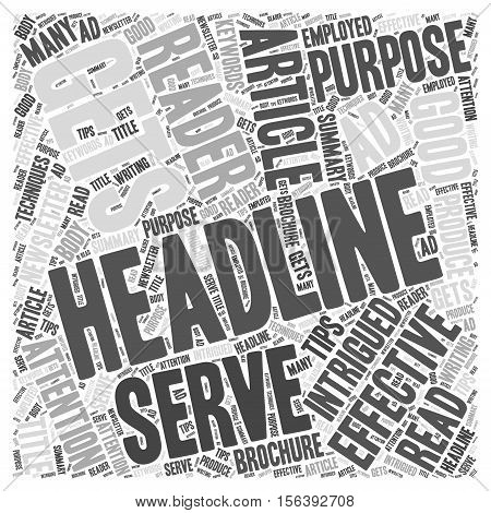 Tips for writing effective headlines word cloud concept