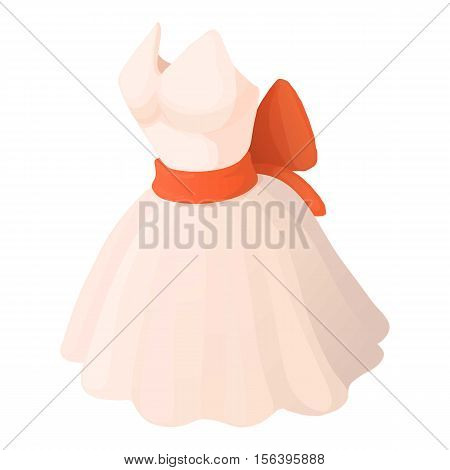 Wedding dress icon. Cartoon illustration of wedding dress vector icon for web