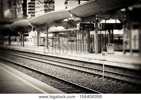 Oslo railroad transport station sepia background hd