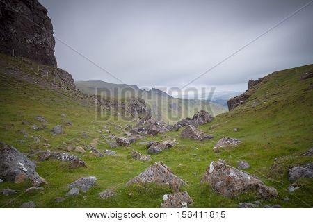 Trotternish mountain landscape Isle of Skye Scotland