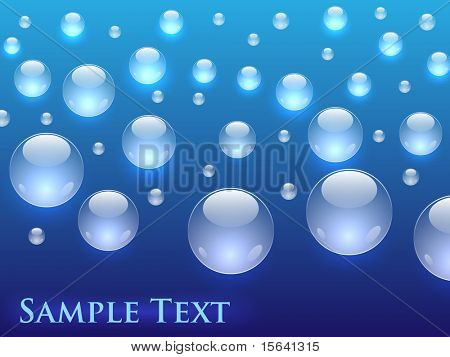 Shiny bubbles horizontal background with copy space. EPS10 file.