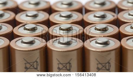 AA batteries extreme macro