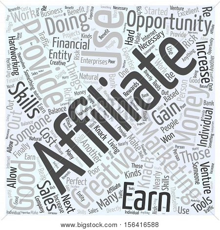 What is Affiliate Marketing word cloud concept text background