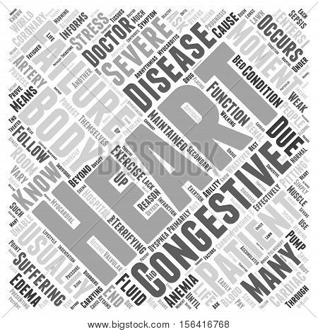 What is Congestive Heart Failure word cloud concept text background