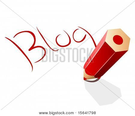 Blog concept vector illustration.