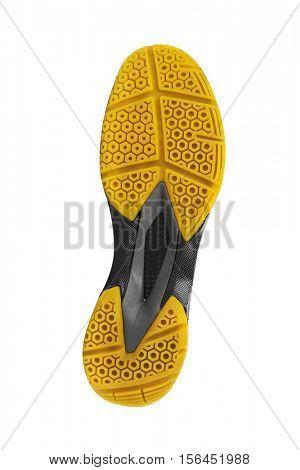 Bottom of sport shoe isolated on white background