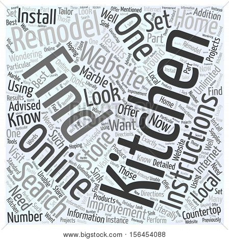 How and Why You Should Find Kitchen Remodeling Instructions Online word cloud concept