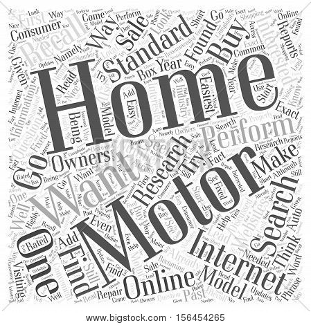 How and Why You Should First Research Motor Homes Online word cloud concept